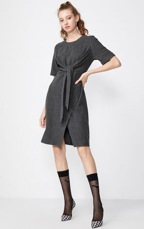 Vero Moda Irregular Hem Round Neckline Dress|319361513