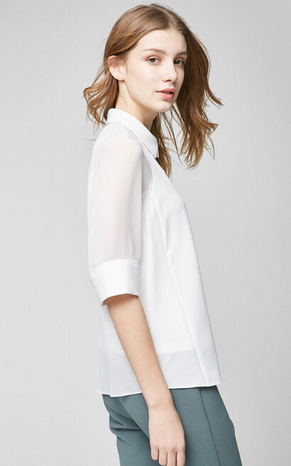 BEYELER 1/2 SHIRT(RN), White, large