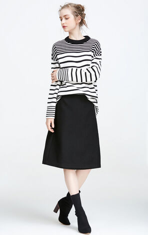 Vero Moda Loose Fit Striped Knit|317413507