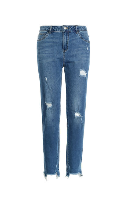 Vero Moda CRANE 9/10 MW GIRLFRIEND JEANS(UR), Blue, large