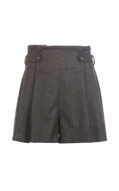 Vero Moda 2019 Women's Ruffled Lace-up Button Shorts |319115517, Charcoal, large