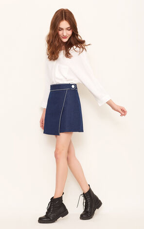 APPLE HW DENIM SKIRT(NC)