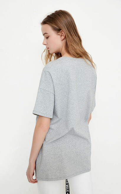 Vero Moda LIBBY S/S JERSEY TOP CL11(FL), Light Grey, large