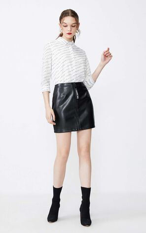 Vero Moda Decorative Zip Coated Skirt|31931G511