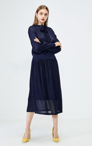 PLEATED KNIT SKIRT(VMC-DM)