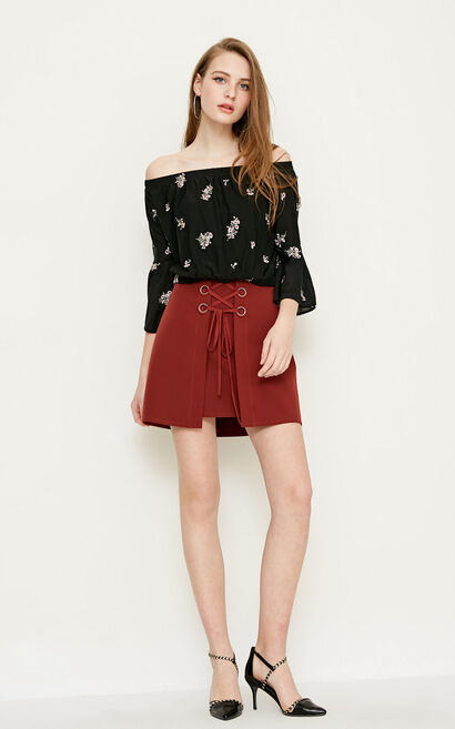 Vero Moda ALICE MINI SKIRT(VMC-SL), Brown, large
