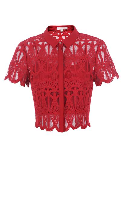 Vero Moda Two-piece Sheer Lace SS Shirt|317204509, Aqua, large