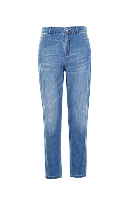Vero Moda 100% Cotton Loose Fit Crop Jeans |317149523, Blue, large