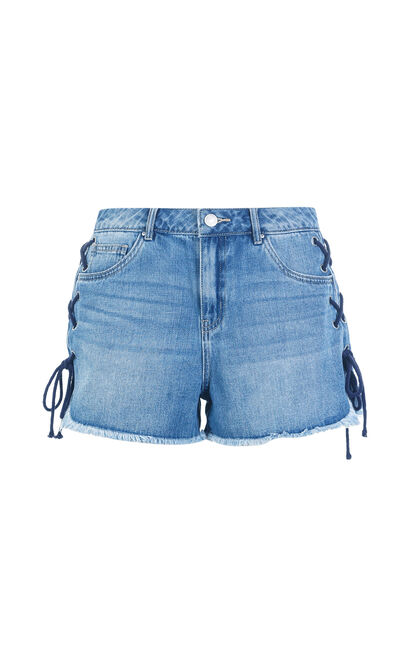 Vero Moda RING MW DENIM SHORTS(NC), Blue, large