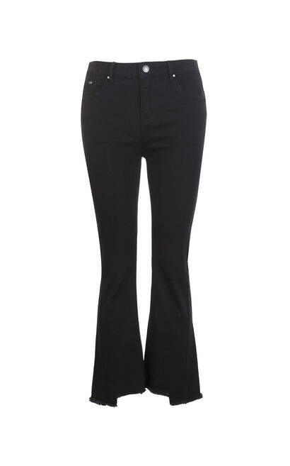 Vero Moda Slight Stretch Slightly Flared Crop Jeans|318149547, Black, large