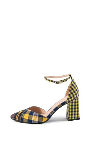 Vero Moda 2019 Spring New Lace-up Pointed Toe Plaid Heels