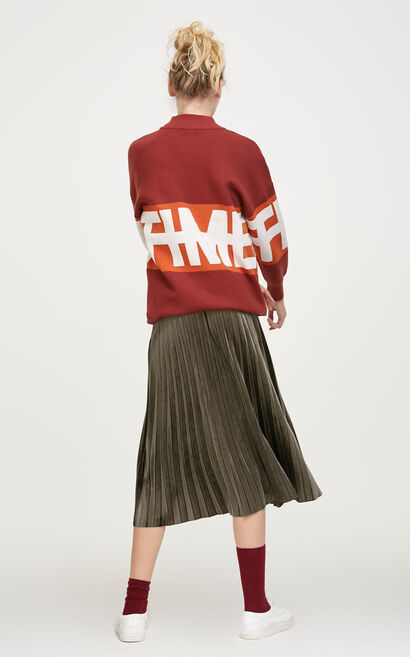 Vero Moda Loose Fit Letter Logo Knit|317413528, Apricot, large