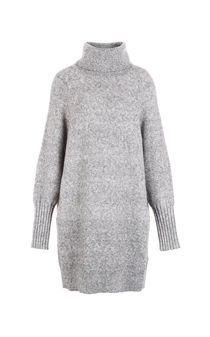 Vero Moda Women High Neck Sweater Knit Dress 317446528, Light Grey, large