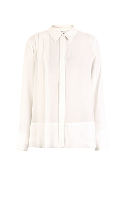 Vero Moda 2019 Women's Spliced Fabric Pleated 3/4 Sleeves Shirt|319131508, White, large