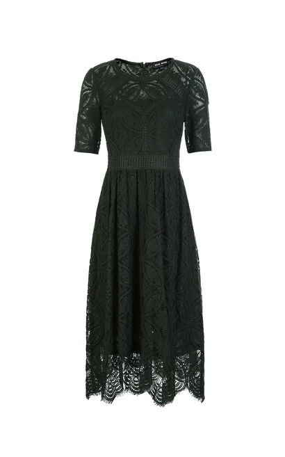Vero Moda Women's Mid-length High-rise A-lined Lace Dress|31826Z502, Emerald Green, large