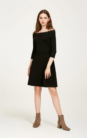 SHARIN 3/4 KNIT DRESS(NR)