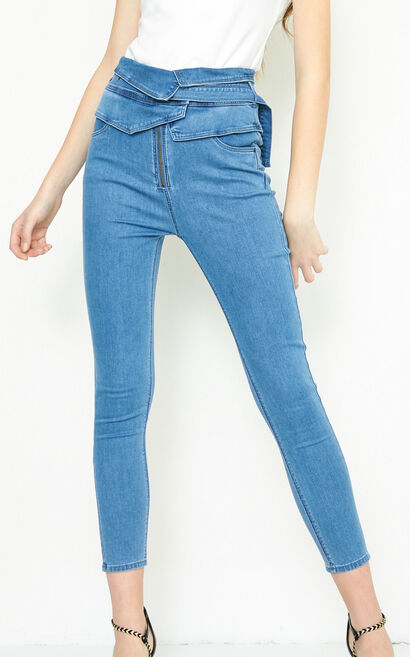 ROMANTIC 9/10 HW X-SLIM JEANS(NR), Blue, large
