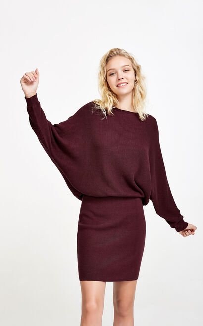 Vero Moda Straps Cross Strap Back Batwing Sleeves Dress|317446506, Red, large