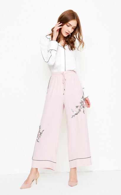 MARRY 9/10 WIDE PANTS(NR), Pink, large