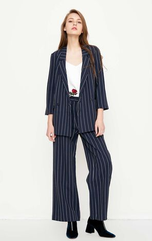 Vero Moda Twin Pockets Striped Blazer|318108515