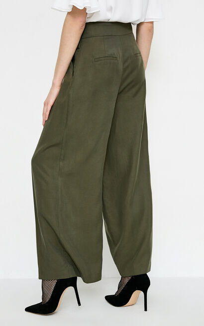 NARCISSUS 9/10 WIDE PANTS(NN), Green, large