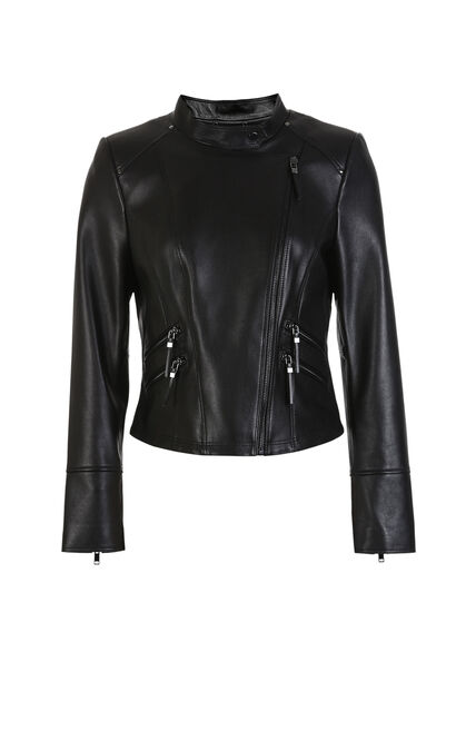 TIANA L LEATHER JACKET(VMC-NC), Black, large