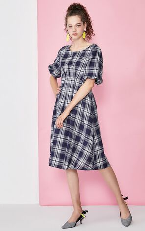 Vero Moda Balloon Sleeves Platycodon Dress|31936Z524