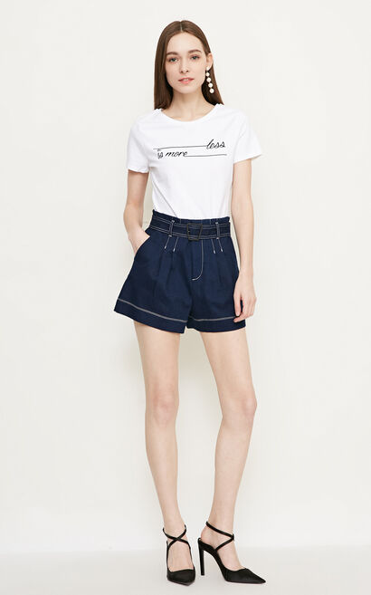 Vero Moda VeroModa High-rise Denim Shorts|318243515, Blue, large