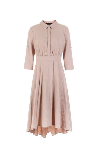 Vero Moda Two-way Sleeves Decorative Waistband Shirt Collar A-line Dress|31737C507, Pink, large