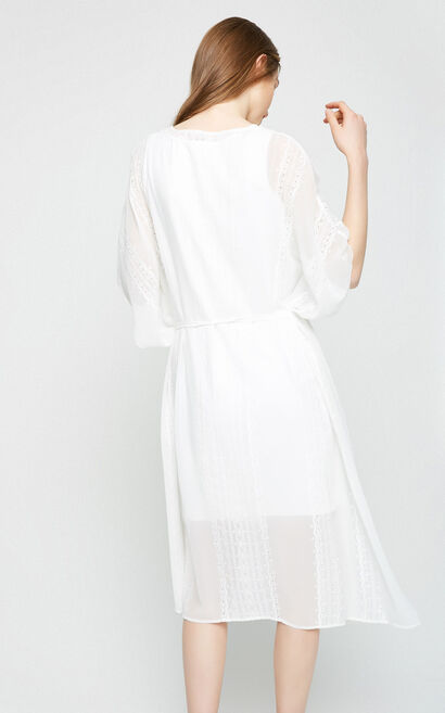Vero Moda Women's Loose Fit Real Two-piece Embroidered Dress|31726Z512, White, large