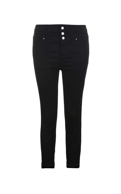 Vero Moda SUNFLOWER 3/4 HW X-SLIM JEANS(SL), Black, large