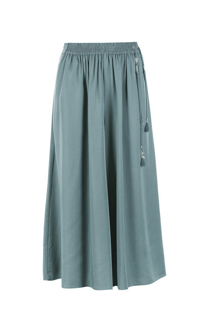JULY SOFT 7/8 WIDE PANTS(SD), Green, large