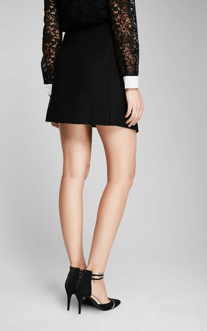 CYNTHIA MINI SKIRT(UM), Black, large