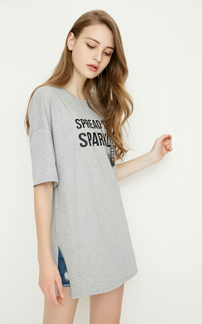 LIME S/S TOP(SL), Light Grey, large