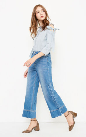SCHOOL JOINT 9/10 HW LOOSE JEANS(NC)