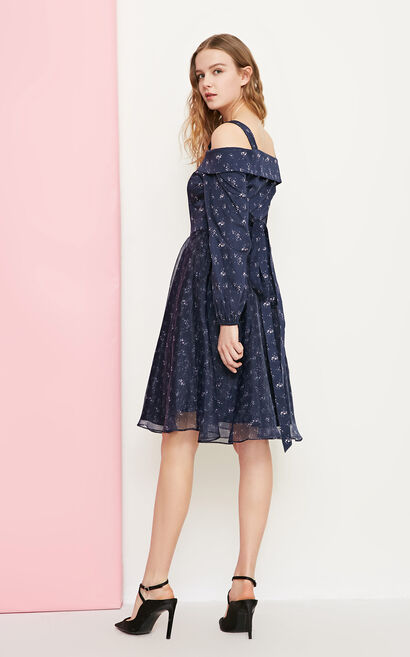 Vero Moda Women's Spliced Printed Lace-up Dress | 31827D517, Blue, large