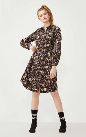 Vero Moda 100% Cotton Printed Long-sleeved Dress |3201SZ507