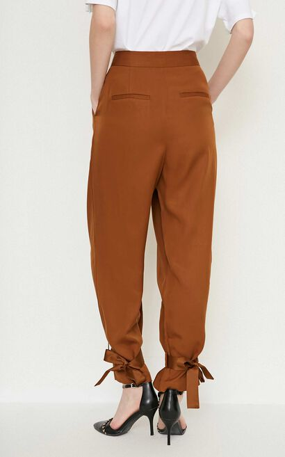 Vero Moda ZEBULON SOFT 9/10 CARROT PANTS(VMC-BJ), Brown, large