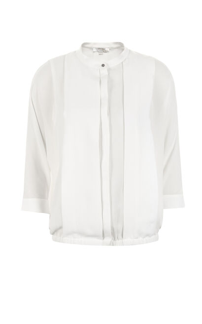 Vero Moda Women's Drop-shoulder 3/4 Sleeves Chiffon Shirt|317131527, White, large