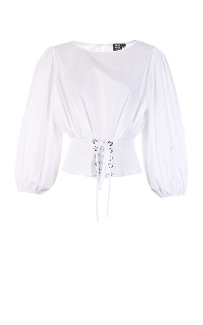 COMET 3/4 TOP(SL), White, large