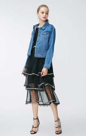 Vero Moda 2019 Spring New 100% Cotton Short Denim Coat