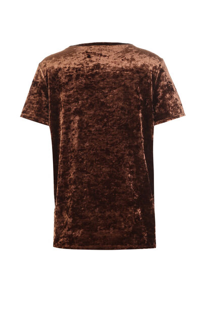 REVOL S/S TOP(NR), Chocolate, large