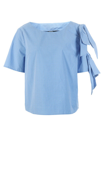 Vero Moda MOLLY S/S TOP(FL), Blue, large