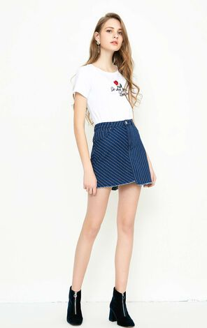 Vero Moda LOCK HW MINI DENIM SKIRT(SL)