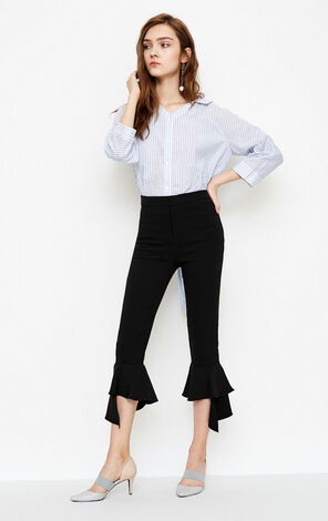 Vero Moda Waist Belt Striped 3/4 Sleeves Shirt ||318231502