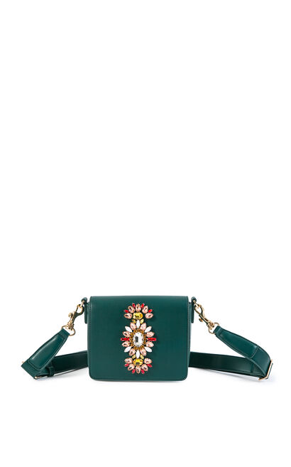 Vero Moda 2019 Rhinestone Bead Trims Handbag Knapsack|319285527, Army Green, large