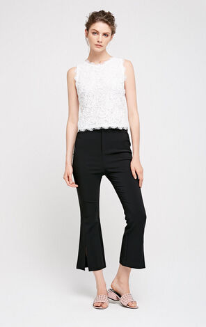 Vero Moda Split Stretch Capri Flare Pants|31736J524