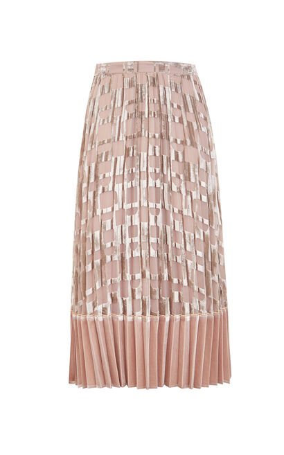 Vero Moda Velvet Gauzy Pleated Skirt|319316536, Apricot, large