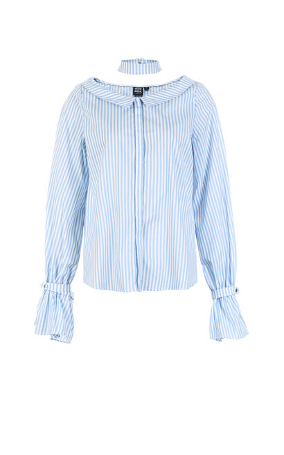 HANGER STRIPE L/S SHIRT(SL), Blue, large