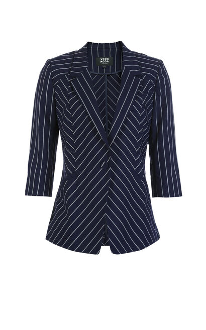 Vero Moda Striped 3/4 Sleeves Blazer|318108519, Apricot, large